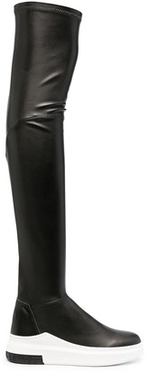 Cinzia Araia Thigh-High Leather Boots