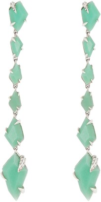 Alexis Bittar Sterling Silver Chrysoprase & Sapphire Drop Earrings