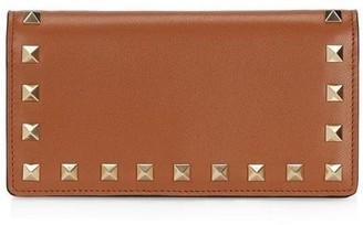 Valentino Garavani Medium Rockstud Leather Wallet