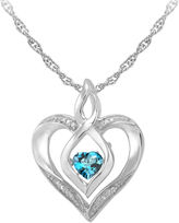 JCPenney FINE JEWELRY Love in Motion Genuine Topaz and Diamond-Accent Heart Pendant Necklace