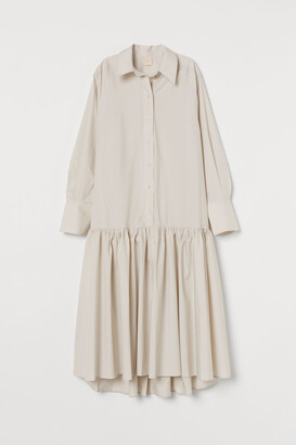 H&M Flounce-hemmed shirt dress