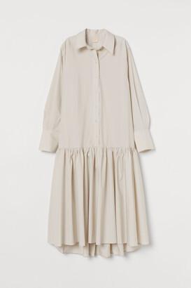 H&M Flounce-hemmed shirt dress