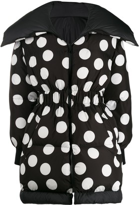 Dolce & Gabbana Oversized Polka Dot Print Coat