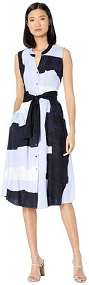 Nic+Zoe In The Clouds Dress (Blue Multi) Women's Clothing