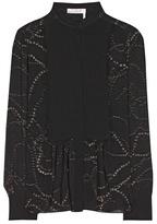 Chloé Embellished Silk Blouse
