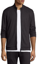 Armani Collezioni Diamond Jacquard Zip-Up Sweat Jacket, Charcoal