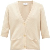 Allude Button-front Cashmere Cardigan - Womens - Beige