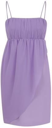 Kith&Kin Lilac Chiffon Gather Detail Dress
