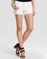 Blank NYC Blanknyc Cutoff Shorts in White Lines