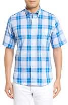 Tailorbyrd Men's Balsam Regular Fit Short Sleeve Plaid Sport Shirt