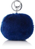 Adrienne Landau WOMEN'S FUR POM-POM KEY CHAIN-BLUE