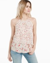 White House Black Market Tiered Floral Top