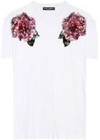 Dolce & Gabbana Sequinned Cotton T-shirt