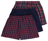 George 3 Pack Check Print Loose Fit Boxers