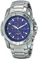 Peugeot Men's 1044BL Analog Display Japanese Quartz Silver Watch