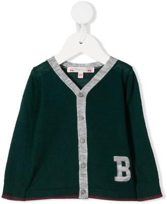 Bonpoint contrast trim cardigan