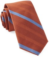 The Tie Bar Orange Goal Line Stripe Tie