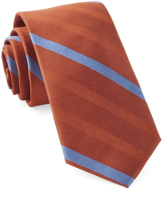 Tie Bar Goal Line Stripe Orange Tie