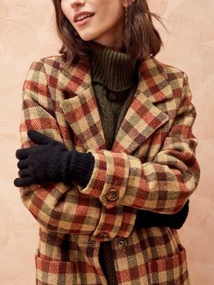 Brora Pointelle Cashmere Gloves