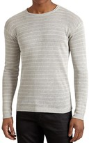 John Varvatos Linen Stripe Sweater