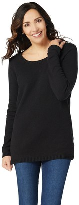 Du Jour Long Sleeve Sweater Tunic with Knot Back Detail