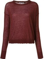 Helmut Lang raw edge jumper - women - Cashmere - S