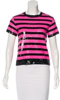 Saint Laurent Embellished Short Sleeve Top