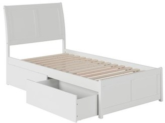 Atlantic Furniture Portland Platform Bed with Matching Foot Board with 2 Urban Bed Drawers, Multiple Colors, Multiple Sizes