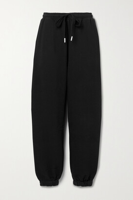 The Upside Major Embroidered Organic Cotton-jersey Track Pants