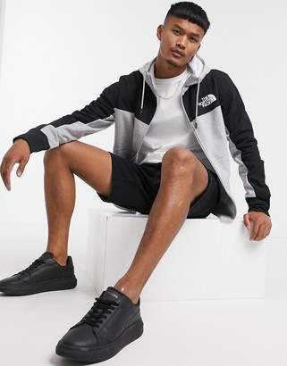 The North Face Himalayan full zip hoodie in gray