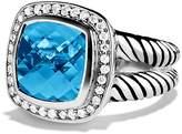 David Yurman Albion Ring with Blue Topaz & Diamonds
