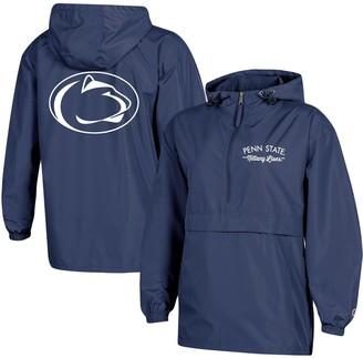 Champion Women's Navy Penn State Nittany Lions Packable Half-Zip Light Rain Jacket