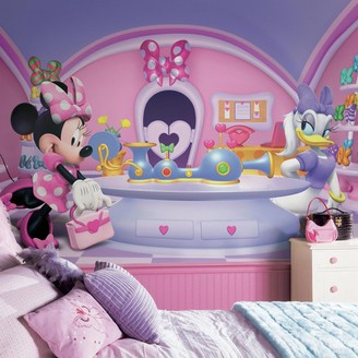York Wall Coverings Disney's Minnie Mouse Fashionista Removable Wallpaper Mural