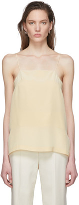 Tula Julia Jentzsch Yellow Silk Tank Top