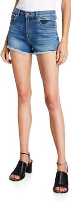 7 For All Mankind High-Waist Denim Cutoff Shorts