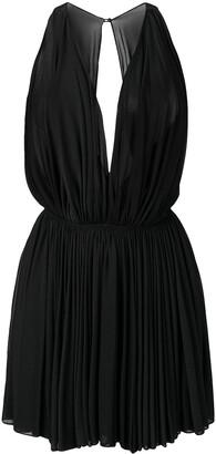 Alaïa Pre Owned 1990's Sheer Pleated Mini Dress