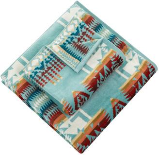 Pendleton Iconic Jacquard Towel - Chief Joseph Aqua - Hand Towel