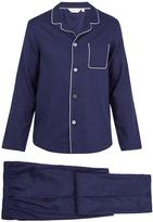 Derek Rose Lombard geometric-jacquard cotton pyjama set