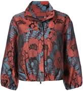 Josie Natori floral print cropped jacket