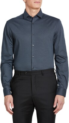 John Varvatos Slim Fit Jersey Knit Dress Shirt