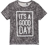 Ikks Black and White It ́s a Good Day Tee
