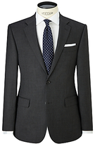 John Lewis Birdseye Wool Regular Fit Suit Jacket, Charcoal
