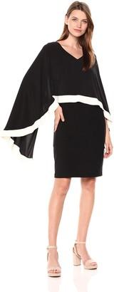 SL Fashions Women's Mesh Knot Top Shift Dress