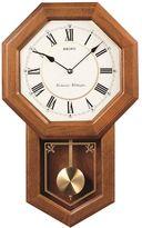 Seiko Oak Schoolhouse Pendulum Wall Clock - QXH110BLH