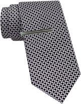 Jf J.Ferrar JF Geo Print Tie and Tie Bar Set - Slim