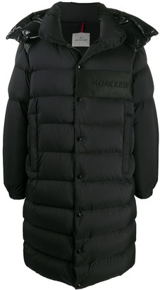 Moncler Detachable-Hood Long Padded Coat