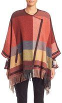Etro Fringed Wool Cape Poncho