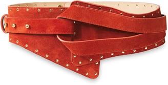 Balmain Studded Suede Belt