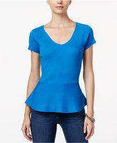 INC International Concepts Petite Ribbed Peplum Sweater, Only at Macy's