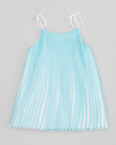 Chloé Mini-Me Satin Pleated Dress, Sizes 6-10